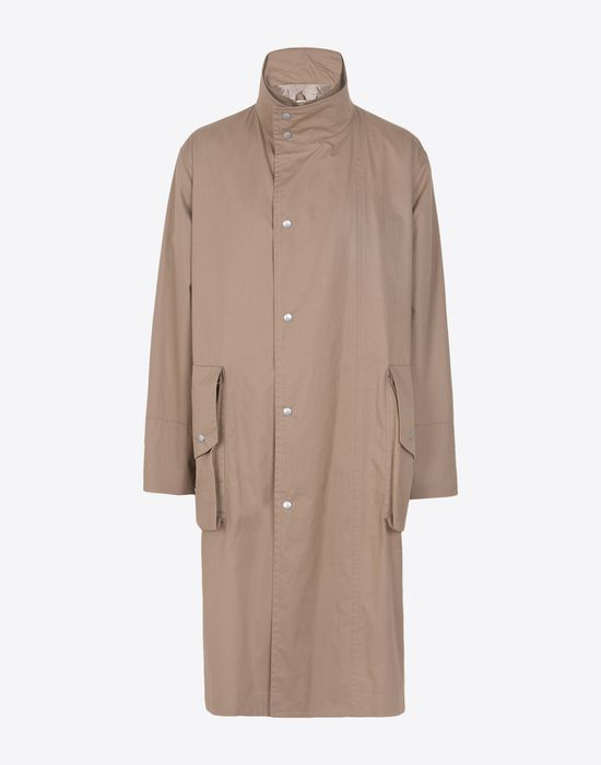 MAISON MARGIELA Trench coat with zip and button closure Raincoat Man f
