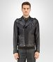 BOTTEGA VENETA BIKER IN NERO CALF LEATHER , INTRECCIATO DETAILS Coat or Jacket U fp