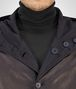 BOTTEGA VENETA BLOUSON IN DARK NAVY LAMB LEATHER , REVERSIBLE WITH NYLON AND INTRECCIATO DETAILS Coat or Jacket U ap