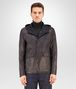 BOTTEGA VENETA BLOUSON IN DARK NAVY LAMB LEATHER , REVERSIBLE WITH NYLON AND INTRECCIATO DETAILS Coat or Jacket U fp