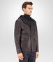BOTTEGA VENETA BLOUSON IN DARK NAVY LAMB LEATHER , REVERSIBLE WITH NYLON AND INTRECCIATO DETAILS Coat or Jacket U rp
