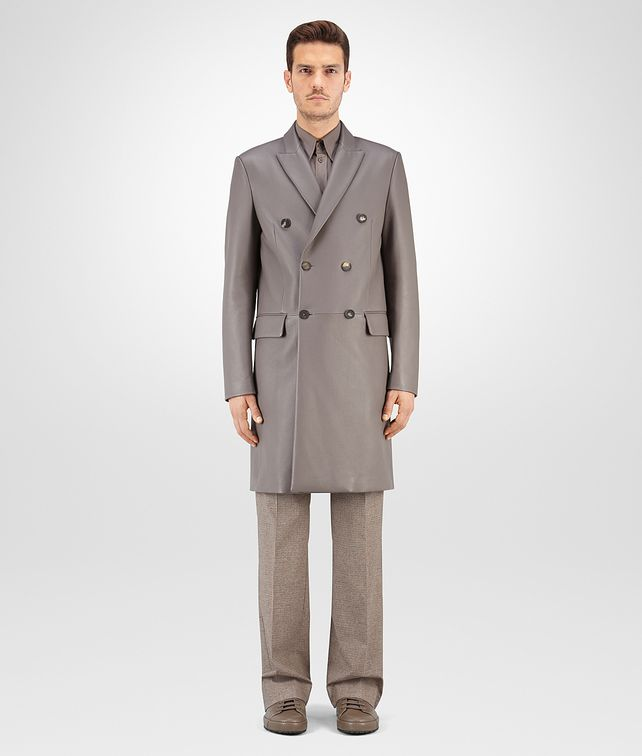 BOTTEGA VENETA COAT IN STEEL CERVO Coat or Jacket U fp