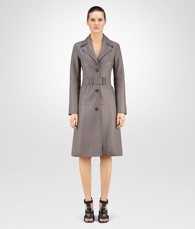 BOTTEGA VENETA STEEL DEER LEATHER TRENCH Coat or Jacket D fp
