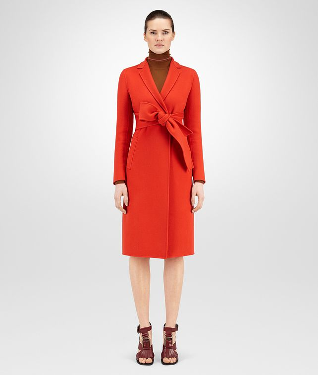 BOTTEGA VENETA COAT IN TERRACOTTA DOUBLE CASHMERE Coat or Jacket D fp