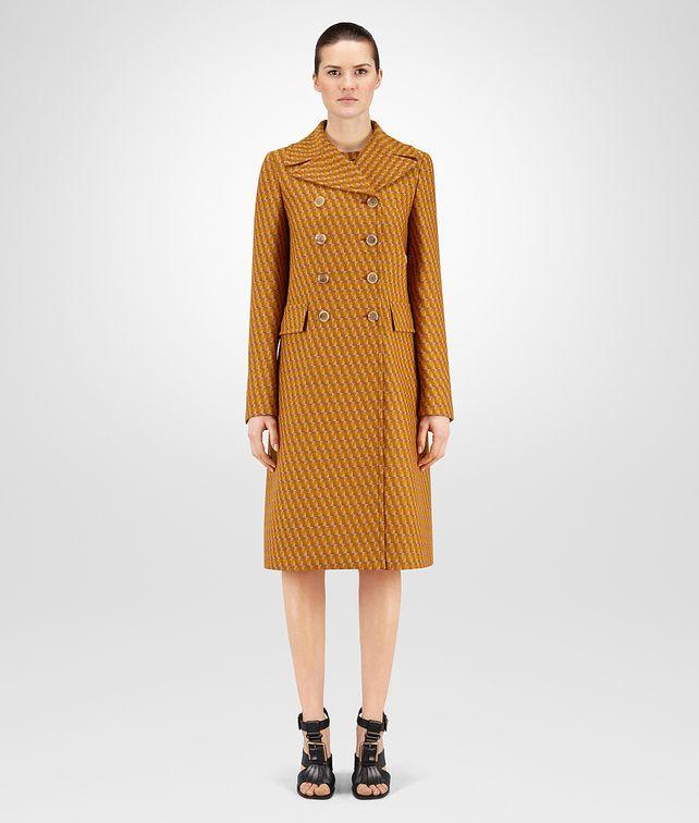 BOTTEGA VENETA OCRE WOOL JACQUARD COAT Coat or Jacket D fp
