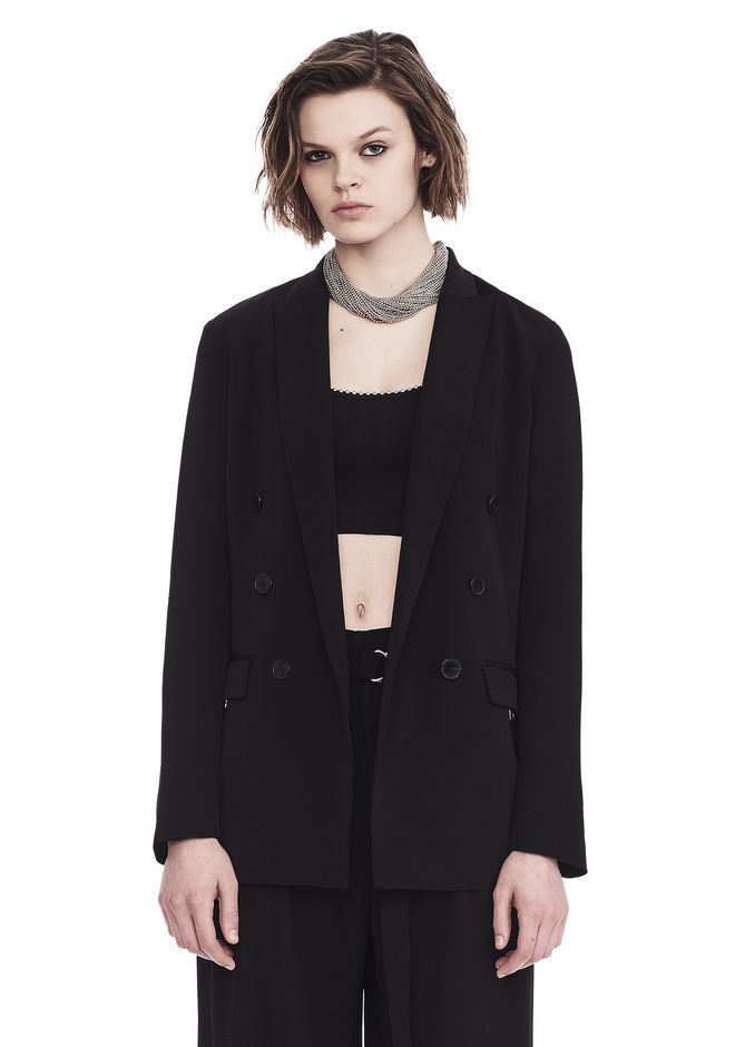 T by ALEXANDER WANG JACKETS AND OUTERWEAR  Women DOUBLE NOTCH COLLAR JACKET