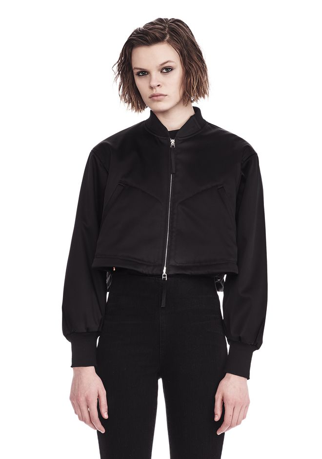 T by ALEXANDER WANG JACKETS AND OUTERWEAR  WATER RESISTANT CROPPED BOMBER