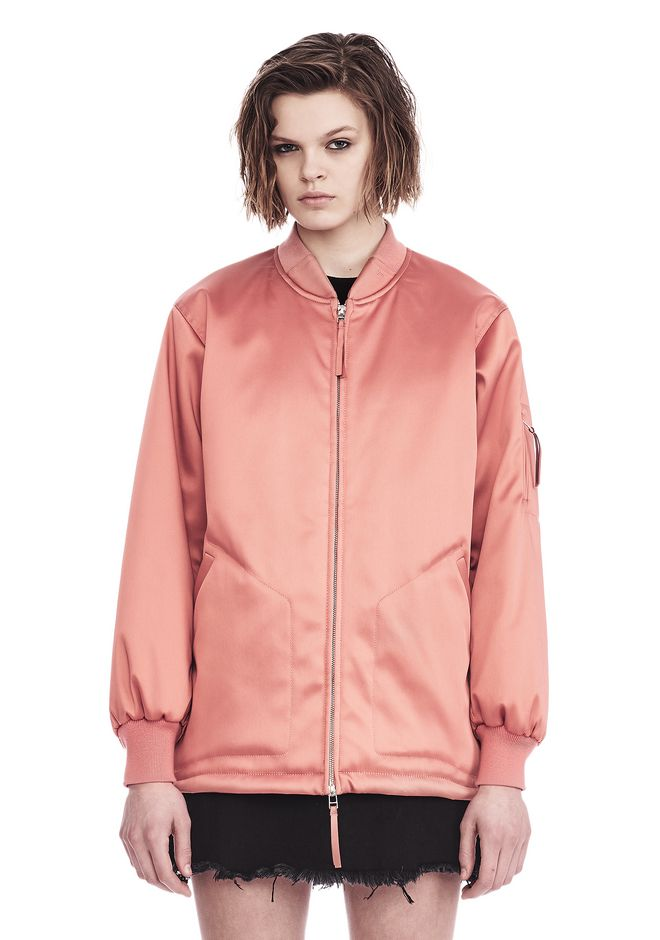 T by ALEXANDER WANG VESTES ET VÊTEMENTS OUTDOOR Femme WATER RESISTANT OVERSIZED BOMBER