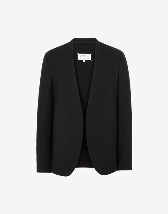 MAISON MARGIELA Collarless virgin wool jacket Blazer [*** pickupInStoreShippingNotGuaranteed_info ***] f