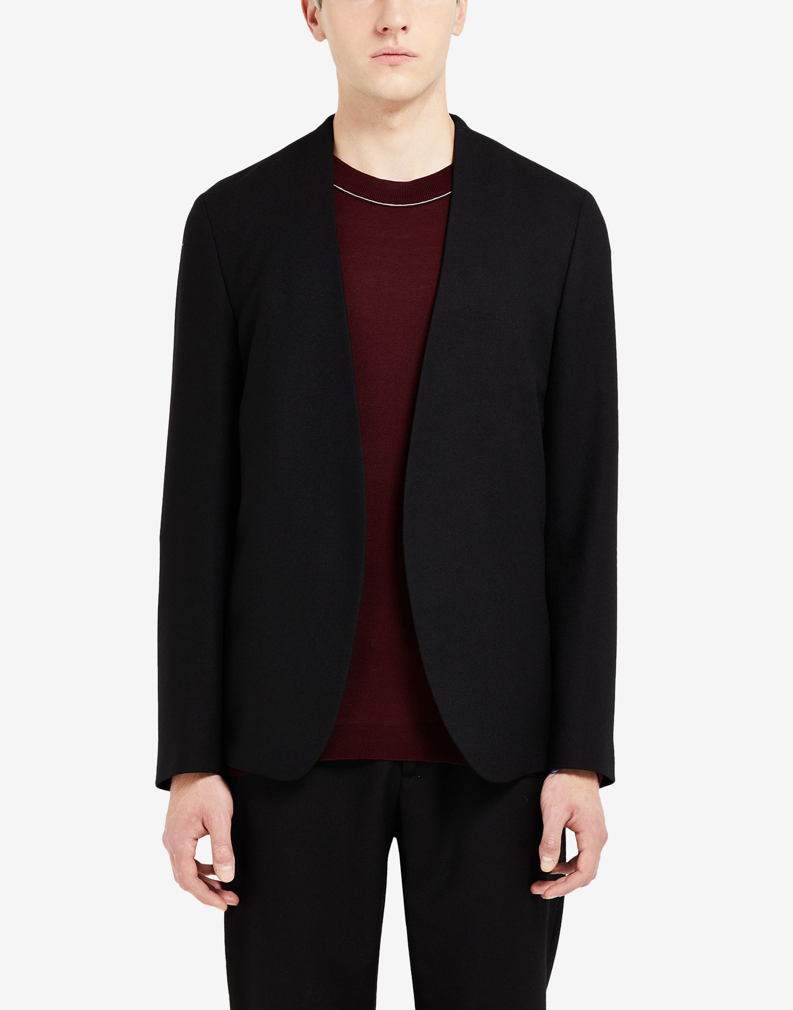 MAISON MARGIELA Collarless virgin wool jacket Jacket Man a
