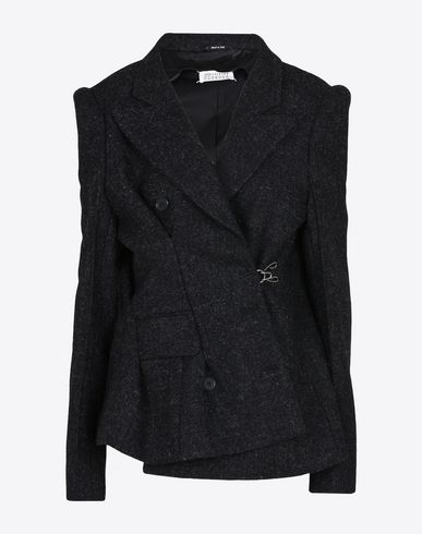 MAISON MARGIELA Shifted tweed jacket Blazer D f