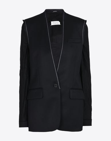 MAISON MARGIELA 1 Jacket D Deconstructed collarless blazer f