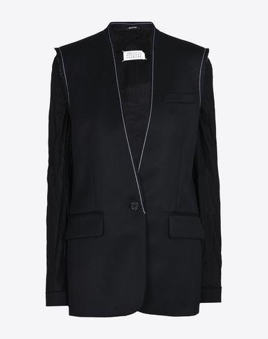 MAISON MARGIELA Blazer D Deconstructed collarless blazer f