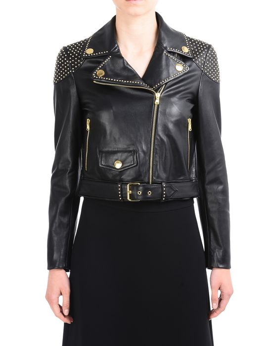 Leather outerwear Woman BOUTIQUE MOSCHINO
