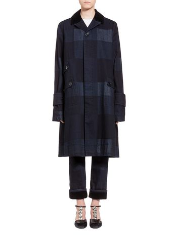 Marni Coat in denim Chess  Woman