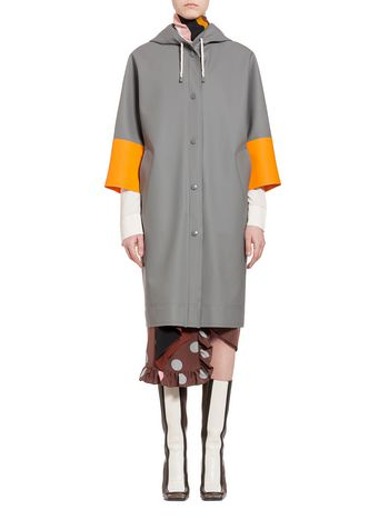 Marni Stutterheim for Marni waterproof coat in gray Woman