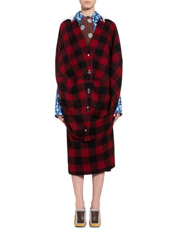 Marni Cape in check wool Woman