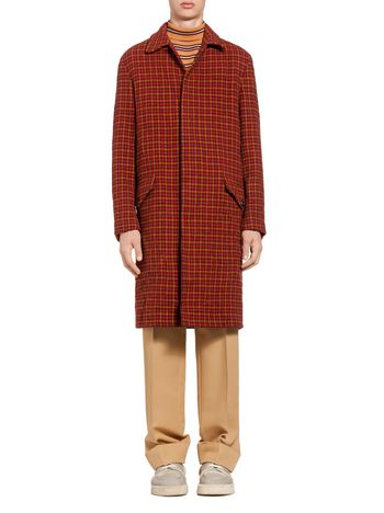 Marni Coat in houndstooth wool Man