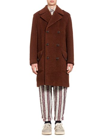 Marni Shearling-effect wool coat Man
