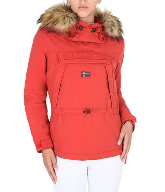 NAPAPIJRI SKIDOO FAUX FUR WOMAN SKIDOO,RED