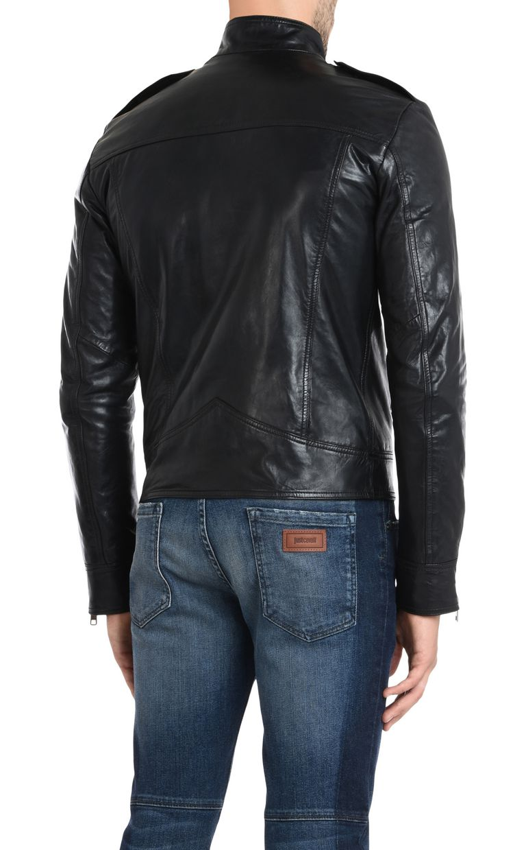 JUST CAVALLI Leather sports jacket Leather Jacket [*** pickupInStoreShippingNotGuaranteed_info ***] d