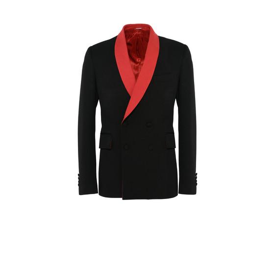黑色双排扣夹克