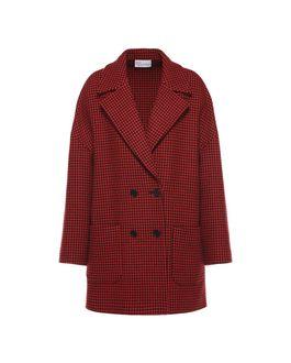 REDValentino Wool houndstooth boyfriend  coat