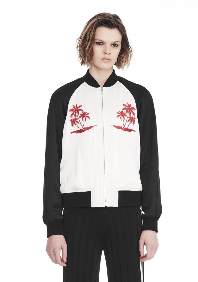 ALEXANDER WANG exclusives EXCLUSIVE SOUVENIR JACKET WITH EMBROIDERY