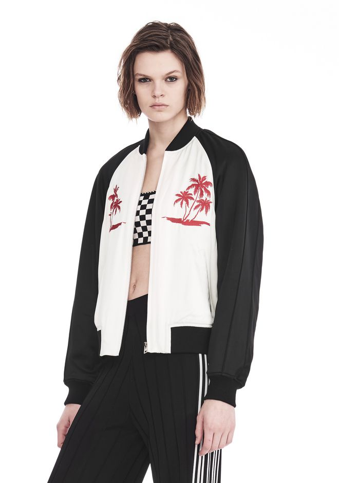 ALEXANDER WANG EXCLUSIVE SOUVENIR JACKET WITH EMBROIDERY 夹克及外套 Adult 12_n_a