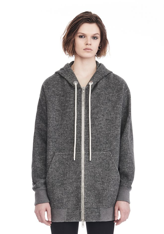 ALEXANDER WANG JACKETS AND OUTERWEAR  Women EXCLUSIVE OVERSIZED ZIP-UP HOODIE
