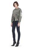 ALEXANDER WANG EXCLUSIVE MESH BOMBER JACKET WITH IRREGULAR PIERCINGS 夹克及外套 Adult 8_n_f