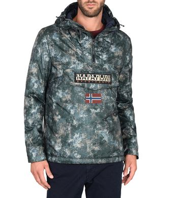NAPAPIJRI RAINFOREST EXCLUSIVE UOMO RAINFOREST,VERDE MILITARE