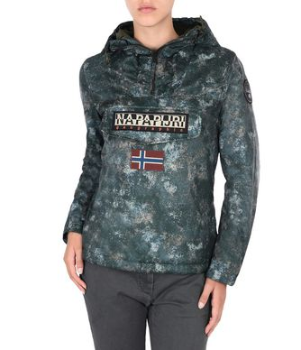NAPAPIJRI RAINFOREST EXCLUSIVE WOMAN RAINFOREST,MILITARY GREEN