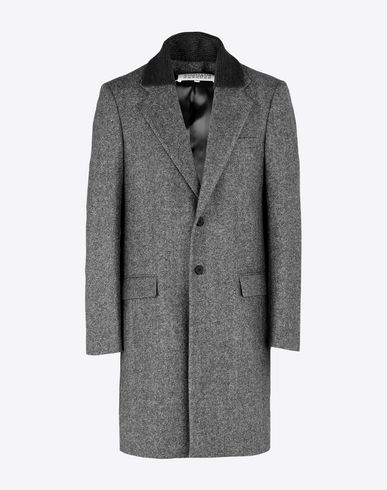 MAISON MARGIELA Coat U Wool coat with contrasting collar f
