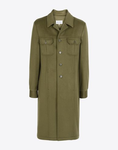 MAISON MARGIELA Coat U Long cashmere coat f
