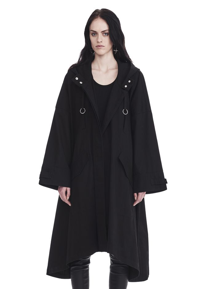 T by ALEXANDER WANG JACKETS AND OUTERWEAR  OVERSIZED HOODED PARKA