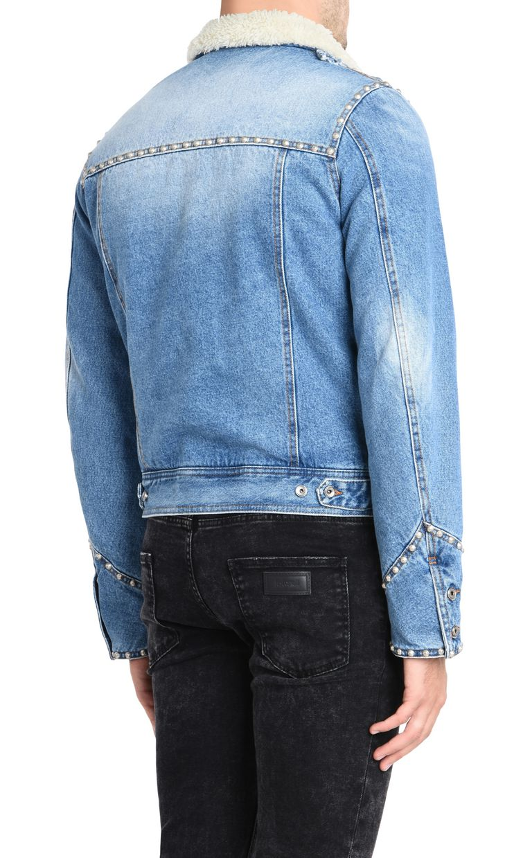 JUST CAVALLI Fur-lined denim jacket Denim Jacket U d