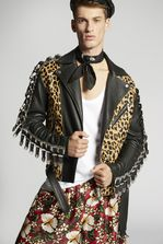 DSQUARED2 Leopard Leather Buckle Jacket Kaban 男士