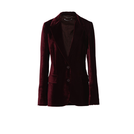 Veste en velours bordeaux