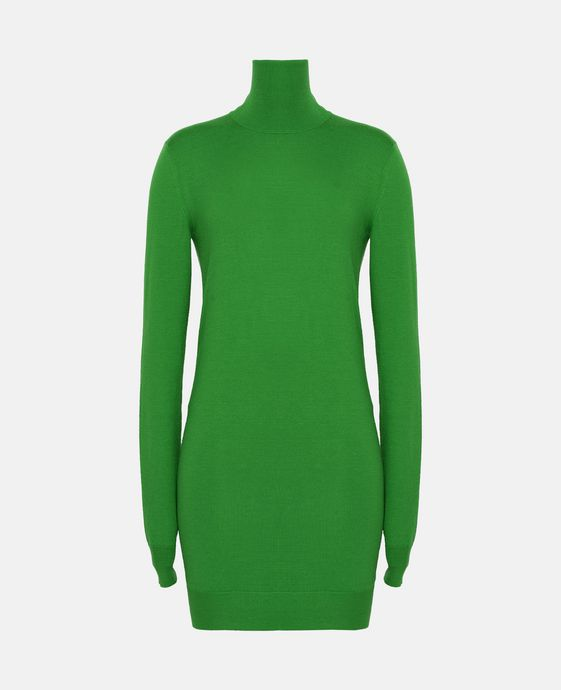 Grass Green Knit Dress
