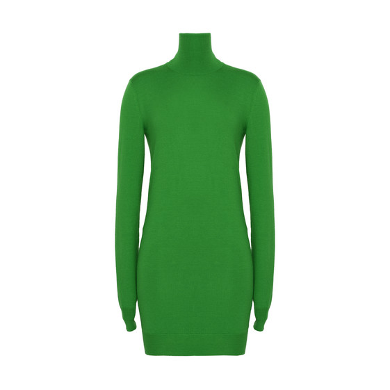 Grass Green Knit Dress