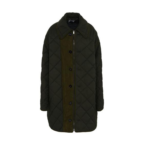Hazel Green Quilted Coat