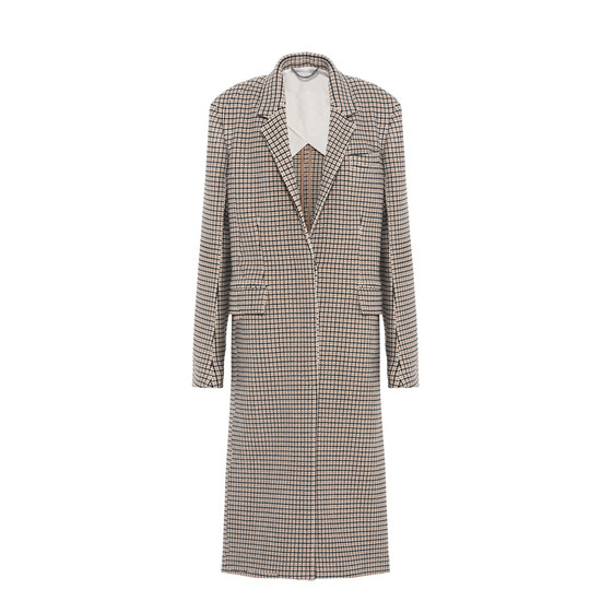 Harper Check Wool Coat