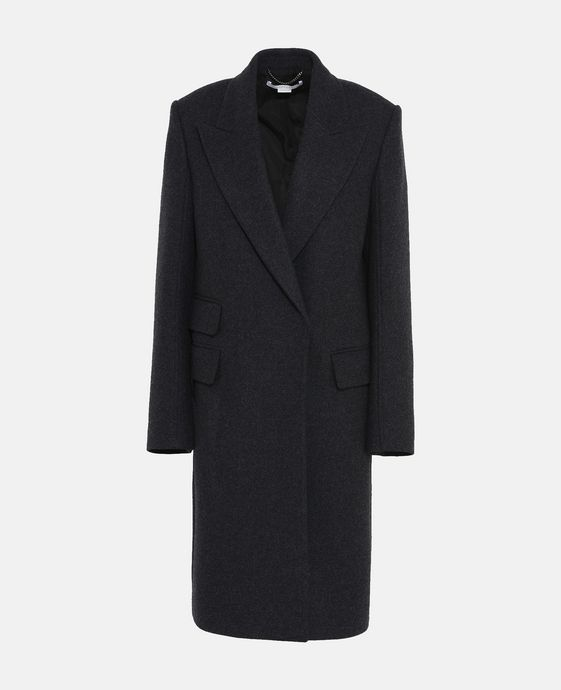 Ilma Gray Wool Coat