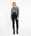 Silver Check Bouclé Jacket