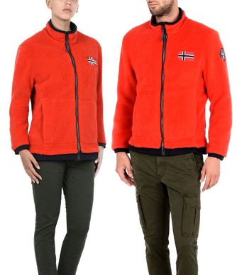 NAPAPIJRI AMOOK  REVERSIBLE  SHORT JACKET,RED