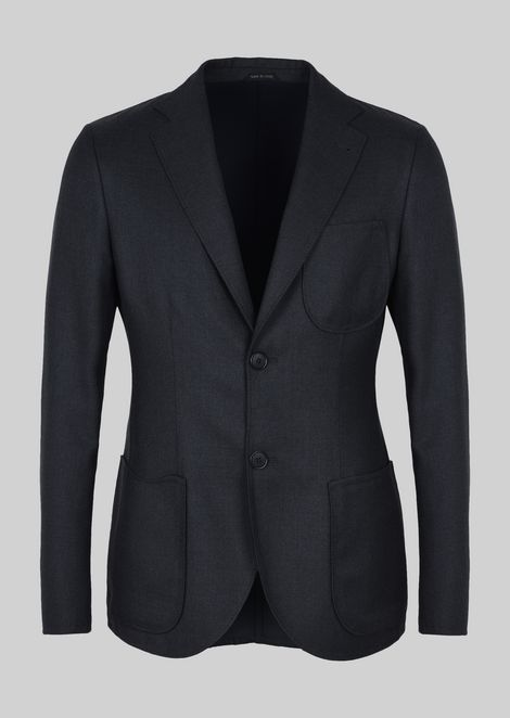 SINGLE-BREASTED JACKET FROM THE TOKYO LINE IN DOUBLE WOOL FABRIC