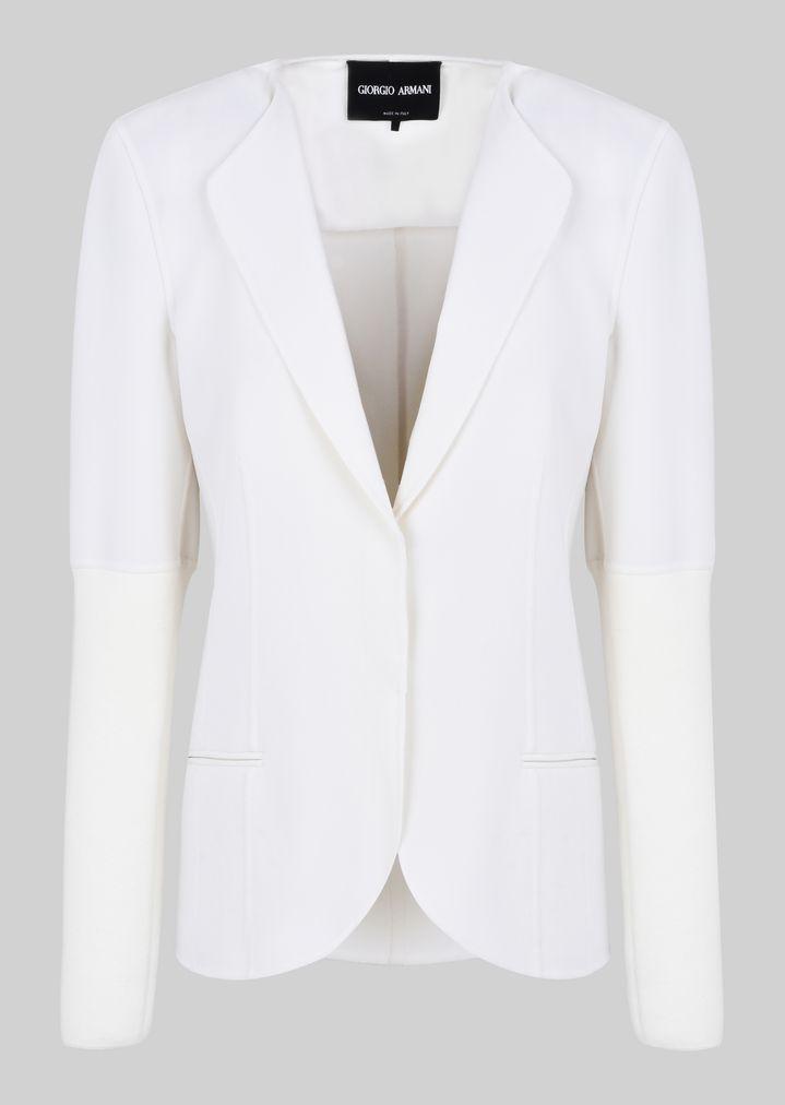 GIORGIO ARMANI DOUBLE WOOL JACKET Fashion Jacket Woman r
