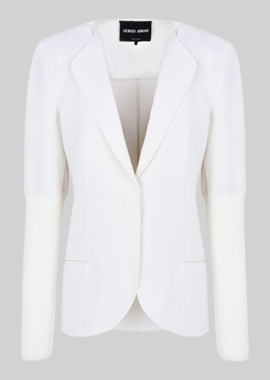 GIORGIO ARMANI DOUBLE WOOL JACKET Fashion Jacket D r