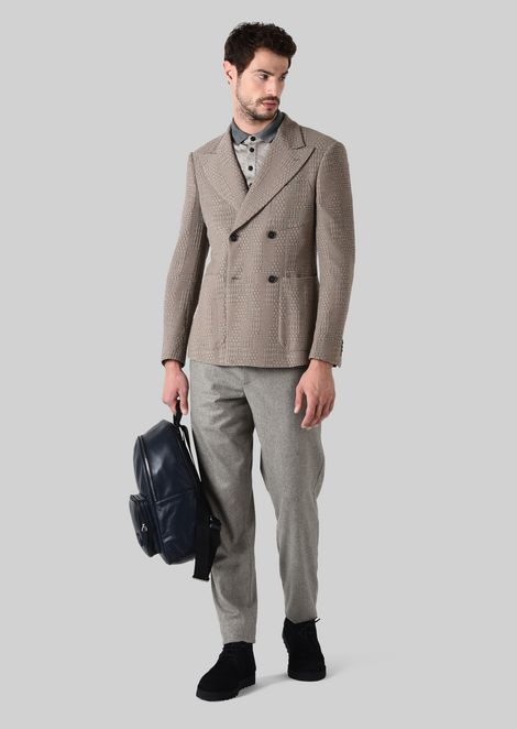 DOUBLE-BREASTED COTTON JACQUARD NUOVA JACKET